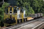 LI 163, 153 on a rail train